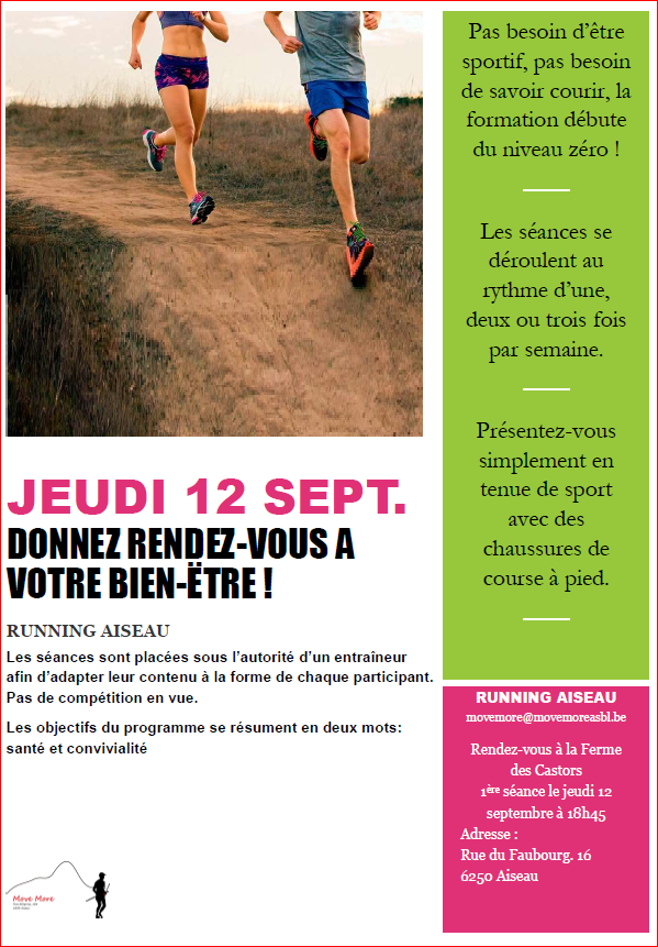 START NOUVELLE SESSION RUNNING AISEAU